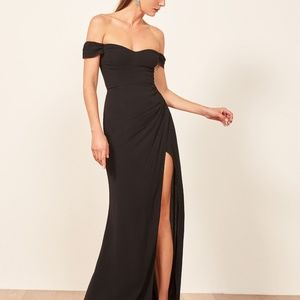 Classic!! Reformation Marilyn Dress - Black